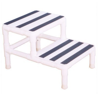 Plastic Stepping Stool with 250 lb. Load Capacity Style: Double Step w/ 2 Hand Rail - Double Handrail