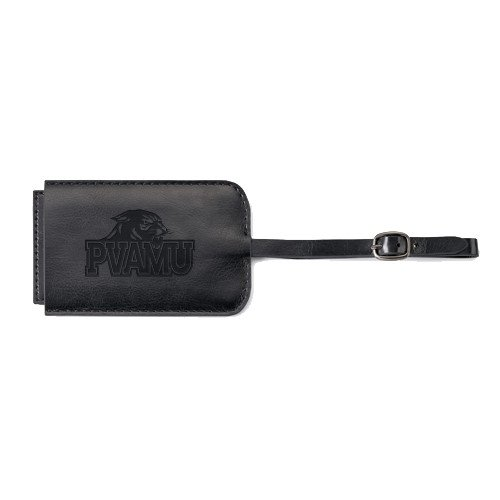 Prairie View A&M Fabrizio Black Luggage Tag 'Official Logo Engraved' by CollegeFanGear