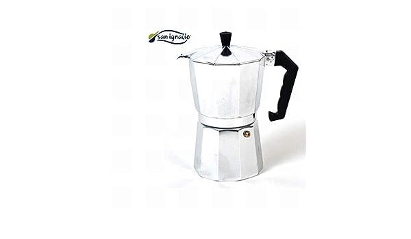 10 cm Gris Acero Inoxidable Gerimport Cafetera