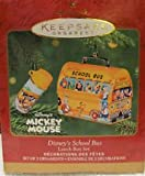 Hallmark Keepsake Mickey Mouse Disney's School Bus 2001 Lunchbox Christmas Ornament Set