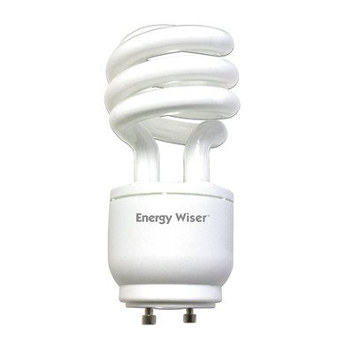 - 18W GU24 Energy Wiser Dimmable Compact Fluorescent Coil in Warm White [Set of 2]