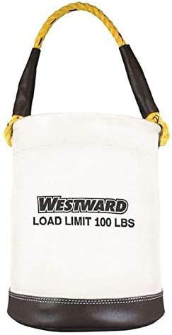 "Westward Bucket Tool Organizer, Wide Opening, 12"", Canvas, Natural"