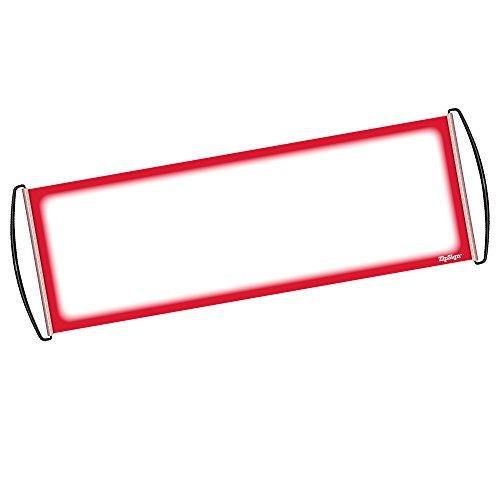 (ZipSign Red Dry Erase Banner Rolls Itself Up, Unrolls to 9.5