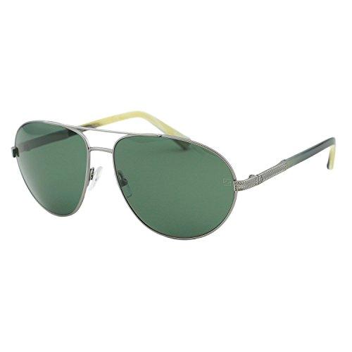 Ermenegildo Zegna EZ0011 12R Men Ruthenium Metal Polarized Aviator Sunglasses - Aviator Sunglasses Zeiss