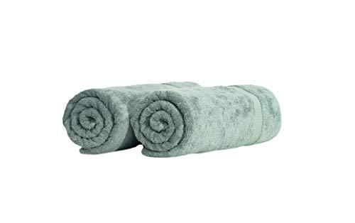 SALBAKOS Turkish Luxury Hotel & Spa 35×70 Bath Sheet Set of 2, Turkish Cotton, Organic, Eco-Friendly, Green