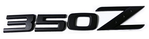 x1 Matte Black 350Z Emblem Replaces OEM 350 Z Rear Deck Hatch Trunk Badge (Datsun Z Emblem compare prices)