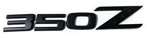 x1 Matte Black 350Z Emblem Replaces OEM 350 Z Rear Deck Hatch Trunk Badge