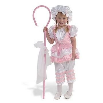 Little Bo Peep Sheep Costume Toddler (Little Bo Peep with Hat and Cane Costume: Girl's Size 2T)