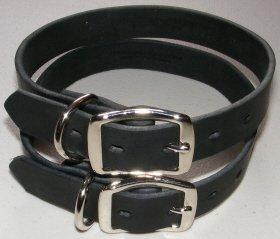 Punk Hollow ~ Standard Leather Dog Collar ~ Single Ply Leather Dog Collar ~ 1 Inch X 21 Inch ~ Black (Single Collar)