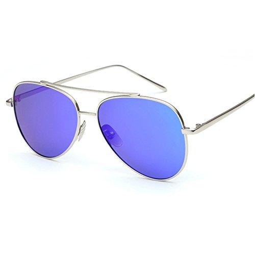 Hommes Métallique Kennifer de Hommes Bleu UV400 Lunettes Classique de Sports les soleil nbsp;Lunettes Aviateur de Conduit de Plein Ossature air Argent Polarisées à R7WaZnRr