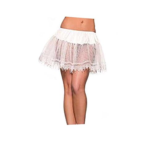 White Petticoat Teardrop (Leg Ave Women's Petticoat, White, One)