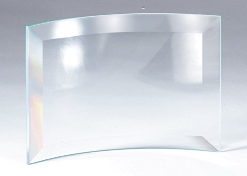 The Trophy Studio Crystal Edge Curved On Glass Base Small 5 3/4
