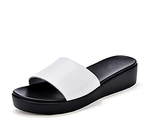 5f35a3f2b2a8a8 Image Unavailable. Image not available for. Color  DingXiong Women Sandals  2018 Genuine Leather Open Toe Shoes Woman Flip Flops ...