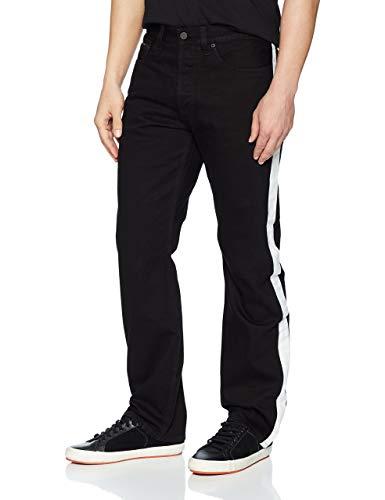 Pants Denim Energie (Calvin Klein Men's Straight, black/white taupe, 30W x 32L)