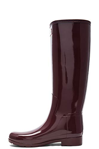 Red Shoe Womens Gloss (Hunter - Original Refined Tall Gloss Dulse Red Women's Rain Boots (10))