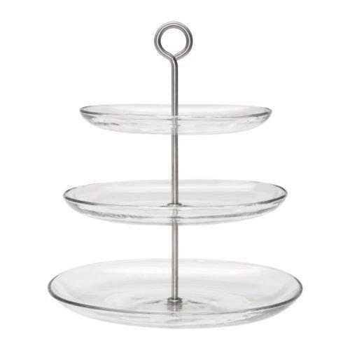 IKEA(イケア) KVITTERA サービングスタンド 3段, クリアガラス, ステンレススチール (70279843) 10セット   B017KHHLZC