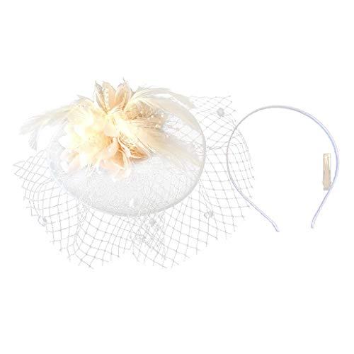 - Woman Feather Fascinator Headband 1920s Gatsby Church Tea Party Headdress