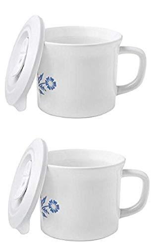 CorningWare Soup Mug with Lid Vented Microwave 20-oz - 2 Pack
