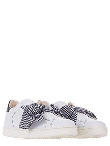 Pelle Moa Sneakers Maxi Fiocco 37 Bianco In Donna Frontale M767 xxtrq7wSp