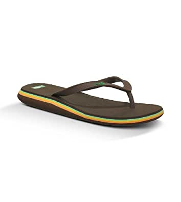 Sanuk - Sanuk Womens Flip Flop - Basic Betty - Brown - Women's 5