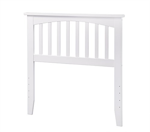 Atlantic Furniture Mission Headboard, Twin, White by Atlantic Furniture