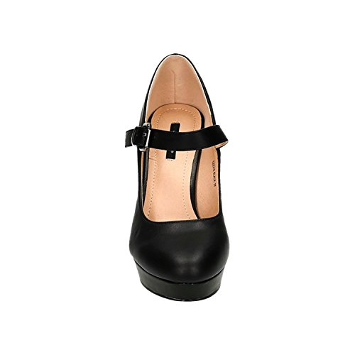 Mujer negro Jane Shoes King Mary of XZwxx6