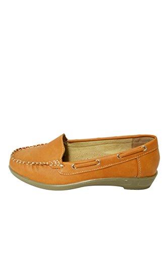 Mocassino Da Donna In Morbida Ecopelle Slip On Shoes (vivi-01) Marrone Chiaro