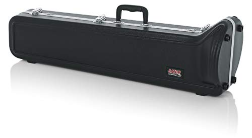 Gator Cases Lightweight Molded Trombone Case with Locking Latch and Plush Lined Interior (GC-TROMBONE)