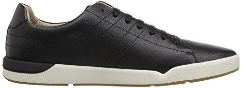 Hugo Boss Mens Quiete Tenn In Pelle Sneaker Nera