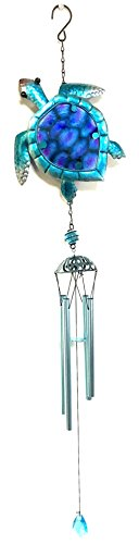 Bejeweled Display Turtle w/ Glass Wind Chime & Home - Display Turtle