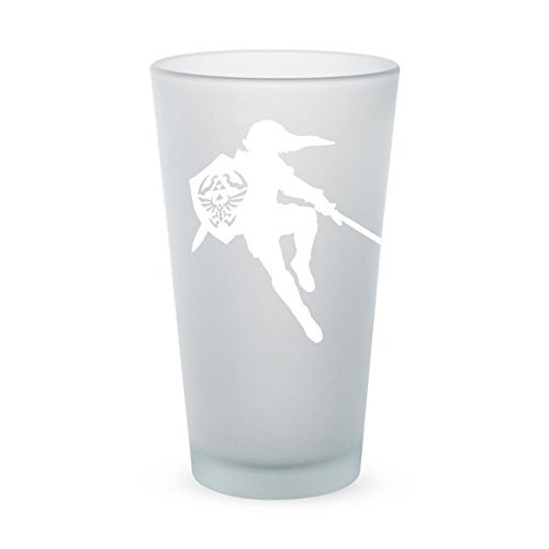 The Legend of Zelda – Link with Sword – Frosted Pint Glass