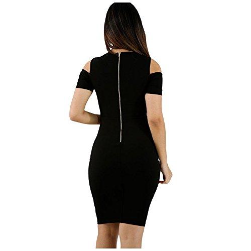 Vestidos Ropa De Moda para Mujer Sexys Cortos Largos Negros De Noche Casuales y Elegantes VE0072 at Amazon Womens Clothing store: