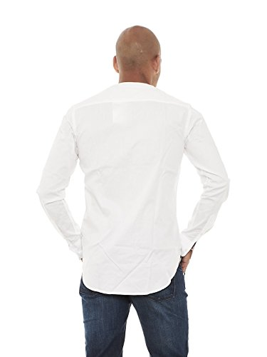 Scotch & Soda - Camisa casual - Manga larga - para hombre Bianco