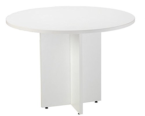 Meeting Table in a White Finish, 1100mm (1.1m Diameter) with Cruciform Legs - Smart Office Furniture Range from Relax Office Furniture