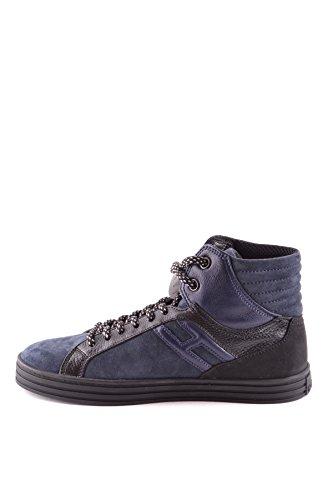 Hogan Hombre MCBI148258O Azul Gamuza Zapatillas Altas