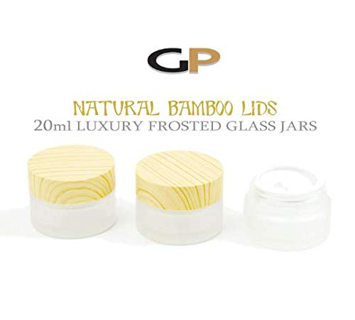 4868284a2b78 Amazon.com: Grand Parfums 20ml LUXURY FROSTED GLASS JARS with Bamboo ...
