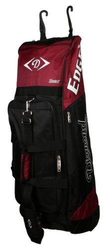 Diamond Softball Cleats - Diamond Sports Wheeled Bat Bag (36 x 10 x 12-Inch, Maroon)