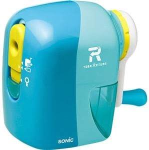 (まとめ)ソニック トガリターン 手動鉛筆削り ライトブルー EK-7022-LB 1台【×5セット】