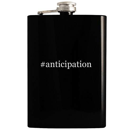 (#anticipation - Black 8oz Hashtag Hip Drinking Alcohol Flask)