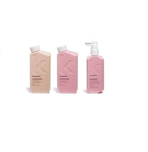 Kevin Murphy Plumping Wash 8.5oz Plumping Rinse 8.5oz & Body Mass 3.4oz Trio 1 set by Kevin Murphy