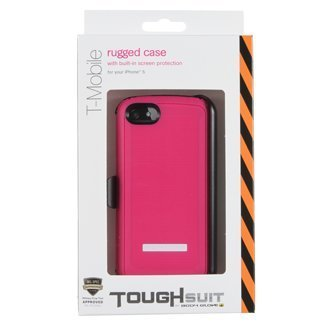 Body Glove ToughSuit Case with Holster Belt Clip for iPhone 5 - 1 Pack - Retail Packaging - Pink With black ()