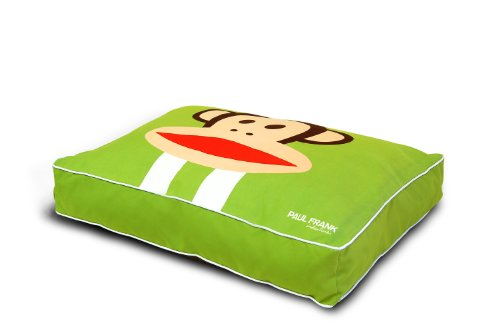 Paul Frank Dog Bed, Racing Stripe Julius, Green, Queen, My Pet Supplies