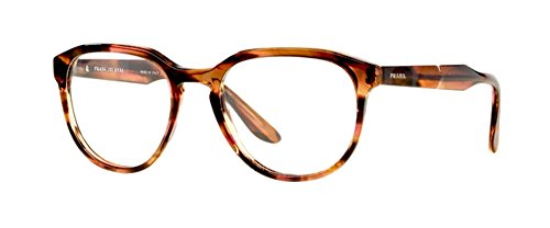 Prada Journal PR18SV Eyeglasses 51-19-140 Striped Brown UEO1
