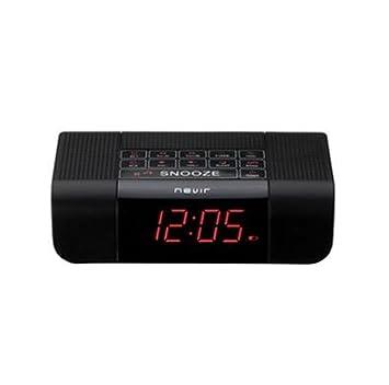 Nevir NVR-332 - Radio Despertador, sintonizador digital AM/FM, led rojo brillante, color plata: Amazon.es: Electrónica