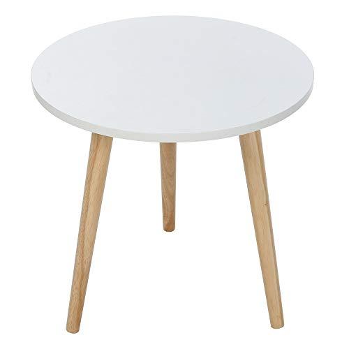 iHPH7 Nordic Minimalist Modern Garden Coffee Table Large (L:47×48cm/18.9×19.1inch,White)