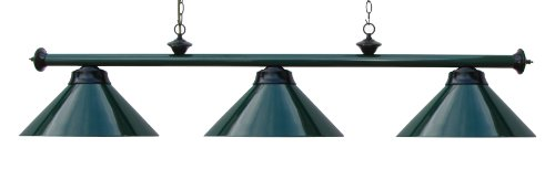 59'' Metal Pool Table Light Billiard Lamp Green Burgundy or Black for 7 or 8 ' Foot Tables (Green) by Iszy Billiards