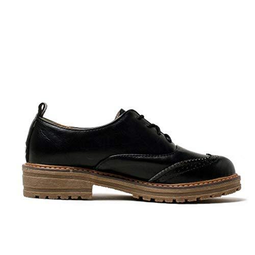à Lacets warm Brogue Chaussure Noir RAZAMAZA Femmes Classique PCxwq6CRf