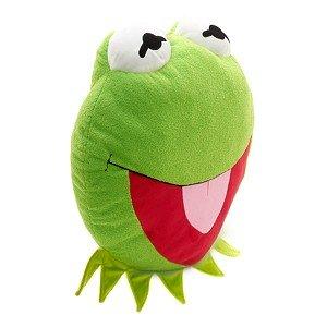 Disney Muppets Kermit the Frog Face Cushion Pillow Plush