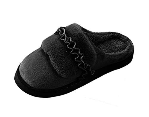 Maison Pantoufle Hiver Coton Noir en Confort Femmes Antidérapantes Icegrey ZaUnPX1q1