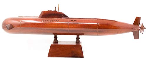 Red Star Submarine Wood Model